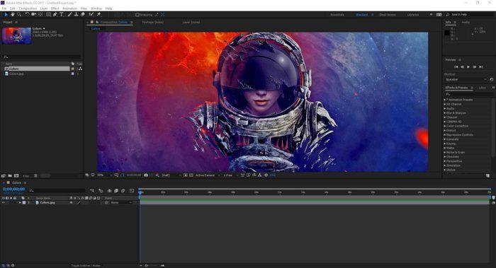 Screenshot de After Effects