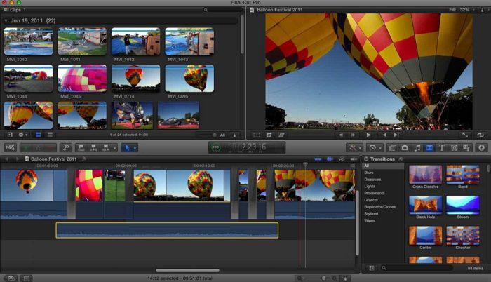 Screenshot de Final Cut Pro